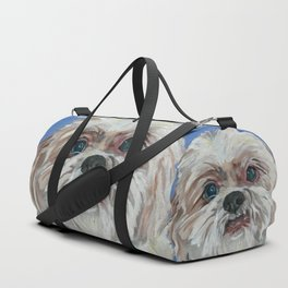 Ruby the Shih Tzu Dog Portrait Duffle Bag