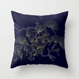 Licmophora - naive diatoms Throw Pillow