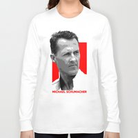formula 1 Long Sleeve T-shirts featuring Formula One - Michael Schumacher by Vehicle