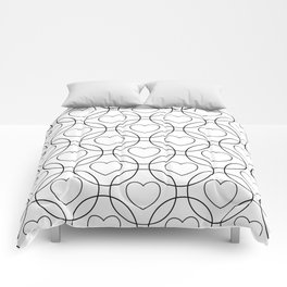 Decor with circles and hearts Comforters