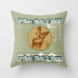 cat in the MiDDLE Throw Pillow