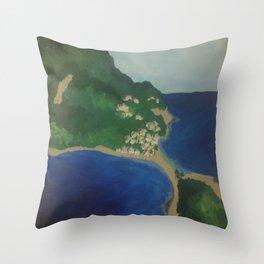 Scotts Head Town Throw Pillow