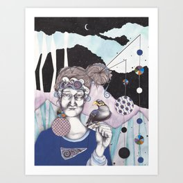 Myna Art Print