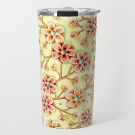 Candy Apple Blossom Yellow Travel Mug