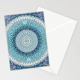 Teal Tapestry Mandala Stationery Cards