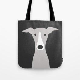 Cute Greyhound, Italian Greyhound or Whippet Cartoon Dog Umhängetasche