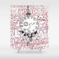 clockwork Shower Curtains featuring Clockwork Alice by katya