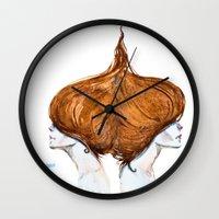 gemini Wall Clocks featuring Gemini by Aloke Design