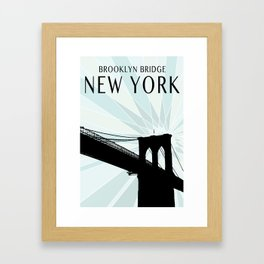 Brooklyn Bridge 4 Framed Art Print
