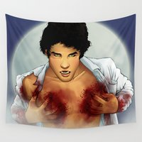 teen wolf Wall Tapestries featuring Teen Wolf by Kimball Gray