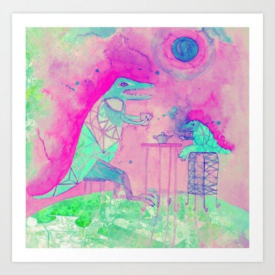 tea time on Venus Art Print