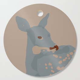 Grey Deer Cutting Board