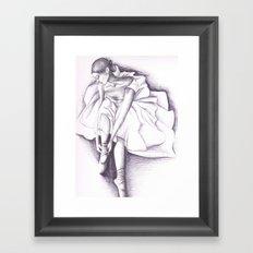 Ballet dancer Framed Art Print