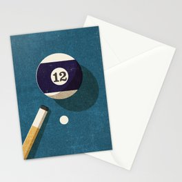 BILLIARDS / Ball 12 Stationery Cards