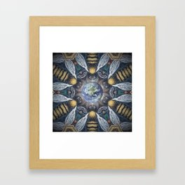 The Keepers of the Garden // Bee Beehive Insect Earth Nature Organic Sustainable Animal Environment Framed Art Print