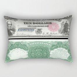 1880 Series U.S. Federal Reserve Ten Dollar Indian Princess Pocahontas being present to the royal E Rectangular Pillow