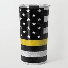 Thin Gold Line Flag Travel Mug