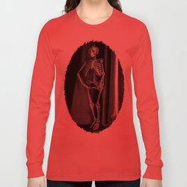 The Skeleton by the Printer Long Sleeve T-shirt