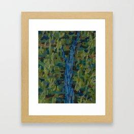 Forest/Stream Framed Art Print