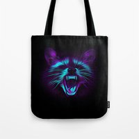raccoon Tote Bags featuring Raccoon by Asya Solo