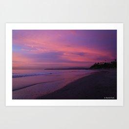 Sunset in San Clemente Art Print