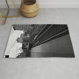 Black and White J Train Rug