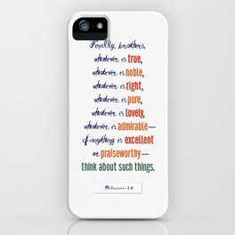 Think About Such Things . . . iPhone Case