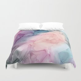 Dark and Pastel Ethereal- Original Fluid Art Painting Duvet Cover