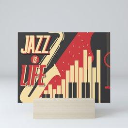 JAZZ IS LIFE Mini Art Print