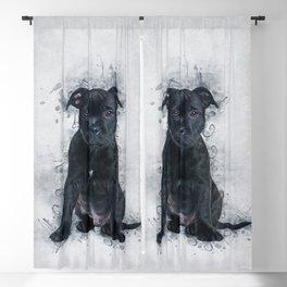 Staffordshire Bull Terrier Blackout Curtain