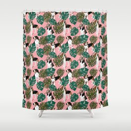 Tropical Treeing Walker Coonhounds 2 Shower Curtain