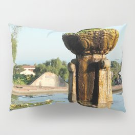 Santa Barbara Mission Fountain Pillow Sham