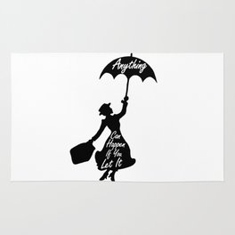 Anything Can Happen If You Let It - Mary Poppins Quote Rug