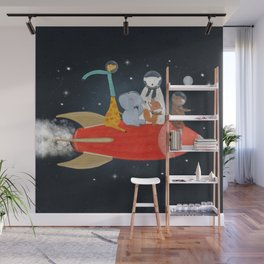 lets all go to the moon Wall Mural