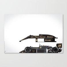 Ayrton Senna, Lotus 98T-Renault, 1986 Canvas Print