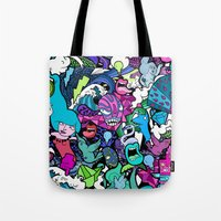 the flash Tote Bags featuring Flash! by Vanessa Teodoro