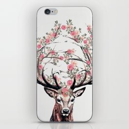 Deer and Flowers iPhone Skin