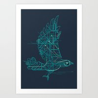 wind Art Prints featuring Wind-Up Bird by Jay Fleck