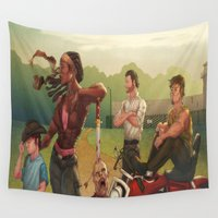 the walking dead Wall Tapestries featuring The Walking Dead by Brian Hollins art