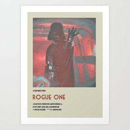 Rogue One Retro Poster V Art Print
