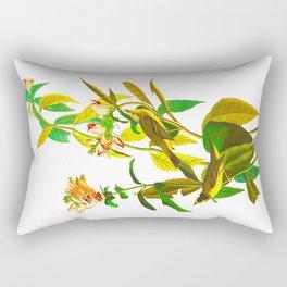 Green Black-capt Flycatcher Rectangular Pillow