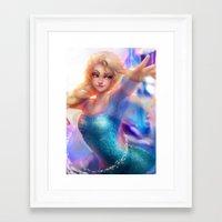 elsa Framed Art Prints featuring Elsa by ChrySsV