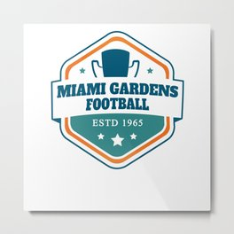 American Football Miami Gardens Metal Print