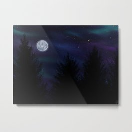 Aurora Night Metal Print