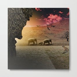 Stalking nature Metal Print