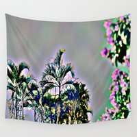 brazil Wall Tapestries featuring Wild Palms Brazil by AdrienneD
