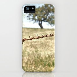 Tree Behind Fence iPhone Case