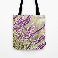 hummingbird + flowers Tote Bag