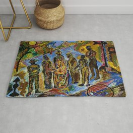 African American Masterpiece 'Can Fire in the Park' by Beauford Delaney Rug