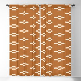 Southwestern Coyote Track Symbols in Ochre + Ecru Blackout Curtain